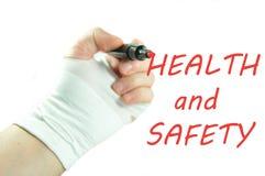 Salud y seguridad imagenes de archivo