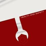 Salud y seguridad creativas de la bandera Imagenes de archivo