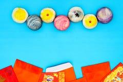 Saludando el concepto chino feliz del fondo del Año Nuevo - yema de huevo sh Fotos de archivo libres de regalías