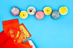 Saludando el concepto chino feliz del fondo del Año Nuevo - yema de huevo sh Imagen de archivo libre de regalías