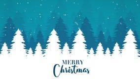 Saludo animado de la Navidad en el fondo blanco ilustración del vector