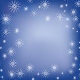 Saludo azul de la Navidad ilustración del vector