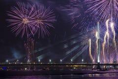 Saludo celebrador en Riga Foto de archivo libre de regalías