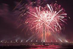Saludo celebrador en Riga Imagen de archivo libre de regalías