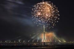 Saludo celebrador en Riga Fotos de archivo