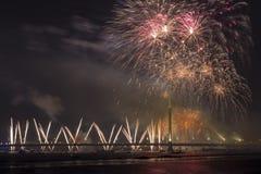 Saludo celebrador en Riga Fotografía de archivo