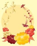 Saludo chino de oro libre illustration