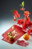 Saludo chino del Año Nuevo imagenes de archivo