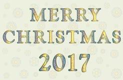 Saludo con Feliz Navidad Foto de archivo