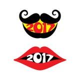 Saludo creativo del Año Nuevo para 2017 Fotografía de archivo