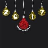 Saludo creativo del Año Nuevo para 2017 Imágenes de archivo libres de regalías