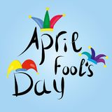 Saludo de April Fools Day Imágenes de archivo libres de regalías