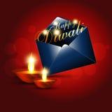 Saludo de Diwali ilustración del vector