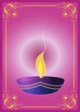 Saludo de Diwali Imágenes de archivo libres de regalías