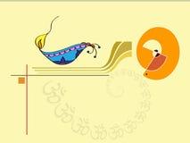 Saludo de Diwali Foto de archivo