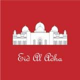 Saludo de Eid Al Adha Mubarak Ilustración Fotos de archivo libres de regalías