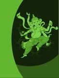 Saludo de Ganesha Diwali Imagen de archivo libre de regalías