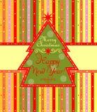 Saludo de la etiqueta por vacaciones de invierno Imágenes de archivo libres de regalías