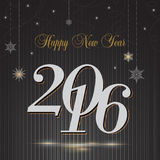 Saludo de la Feliz Año Nuevo 2016 Fotografía de archivo