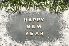 Saludo de la Feliz Año Nuevo, fondo de la decoración Foto de archivo libre de regalías
