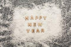 Saludo de la Feliz Año Nuevo, fondo de la decoración Fotografía de archivo libre de regalías