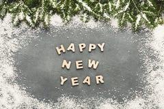 Saludo de la Feliz Año Nuevo, fondo de la decoración Imágenes de archivo libres de regalías