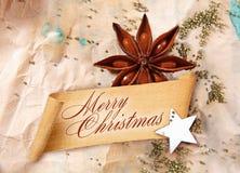 Saludo de la Feliz Navidad Fotos de archivo