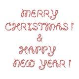 Saludo de la Feliz Navidad stock de ilustración