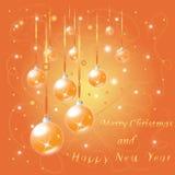 Saludo de la Feliz Navidad y del Año Nuevo po Imagen de archivo
