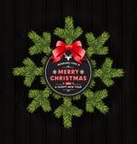 Saludo de la Feliz Navidad y Feliz Año Nuevo Imagen de archivo libre de regalías