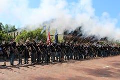 Saludo de la guerra civil fotos de archivo