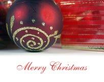 Saludo de la Navidad Fotografía de archivo