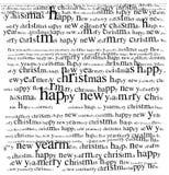 Saludo de la Navidad Foto de archivo