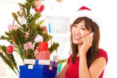 Saludo de la Navidad Fotografía de archivo libre de regalías