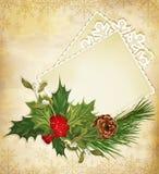 Saludo de la Navidad Imagen de archivo libre de regalías