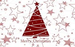 Saludo de la Navidad Foto de archivo libre de regalías
