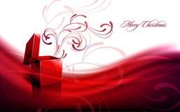 Saludo de la Navidad con el rectángulo abierto stock de ilustración
