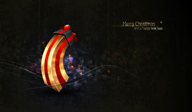 Saludo de la Navidad con el rectángulo de regalo único Fotografía de archivo