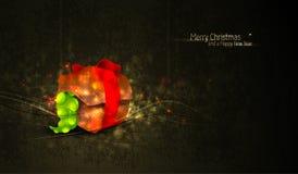Saludo de la Navidad con el rectángulo de regalo único Fotos de archivo libres de regalías