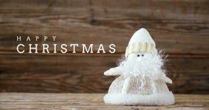 Saludo de la Navidad con la muñeca 4k de la Navidad almacen de metraje de vídeo