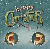Saludo de la Navidad del negocio Foto de archivo libre de regalías