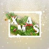 Saludo de la Navidad Ilustración del vector Fotografía de archivo libre de regalías