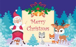 Saludo de la Navidad de Merri stock de ilustración