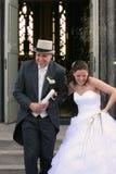 Saludo de los recienes casados Imágenes de archivo libres de regalías