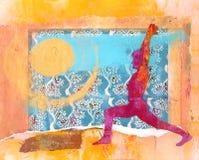 Saludo de Sun stock de ilustración