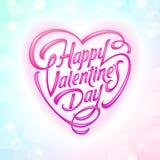 Saludo decorativo del día de tarjetas del día de San Valentín libre illustration