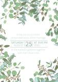 Saludo del aviador festivo, tarjeta del día de fiesta, vector Floral elegante, verdor, colección asimétrica Ramo de espiral del e libre illustration