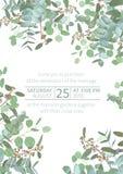Saludo del aviador festivo, tarjeta del día de fiesta, vector Floral elegante, verdor, colección asimétrica Ramo de espiral del e ilustración del vector