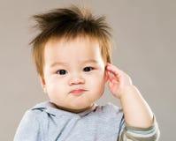 Saludo del bebé de Asia Imágenes de archivo libres de regalías