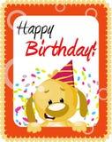 Saludo del cumpleaños ilustración del vector